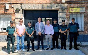 El Subdelegado del Gobierno en Cuenca visita los cuarteles de la Guardia Civil de Montalbo y Villarejo de Fuentes
