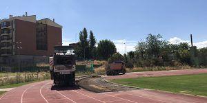 En marcha las obras de la pista de atletismo del Luis Ocaña