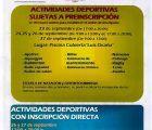 Este lunes se abre el plazo para apuntarse a las Escuelas Deportivas Municipales de Cuenca