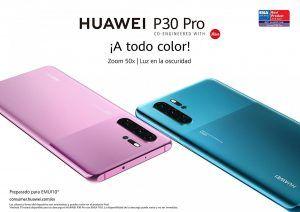 Huawei anuncia nuevos colores y un récord de ventas de sus smartphones de la serie P30