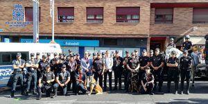 La Policía Nacional acompaña a La Vuelta en su paso por la ciudad de Guadalajara