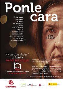 """Cáritas Cuenca hace visible la realidad de las personas sin hogar con la campaña """"Ponle cara"""""""
