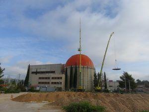 """Comienza el desmontaje de la cúpula del Edificio de Contención de la central nuclear """"José Cabrera"""""""