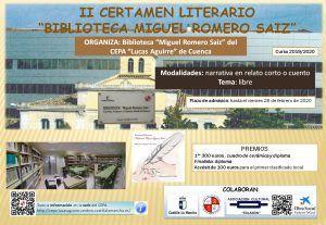 """El CEPA """"Lucas Aguirre"""" organiza la segunda edición del certamen literario """"Biblioteca Miguel Romero Saiz"""""""