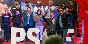 Franco se convierte en el gran protagonista en el mitin del PSOE en Guadalajara con Sánchez y Page
