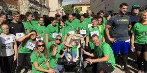 Gran éxito solidario de la Marcha Virgen del Pilar, entre Albalate y Almonacid