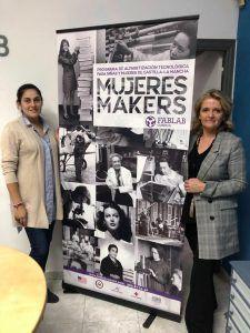 Jiménez y Bonilla conocen el proyecto de FABLAB Cuenca y ensalzan el papel de la mujer emprendedora