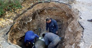 Reparadas tres averías que afectaban a la canalización de abastecimiento de agua a Cuenca
