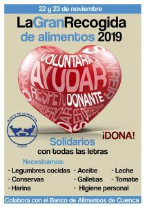 Arranca la Gran Recogida de Alimentos del Banco de Alimentos de Cuenca