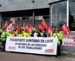 Continúan las movilizaciones de los trabajadores del sector de ambulancias en la provincia de Cuenca