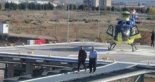 El Gobierno regional ha iniciado las pruebas de vuelo en el helipuerto de Tarancón