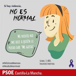 El PSOE de C-LM reafirma su compromiso contra la violencia machista con la campaña #Noesnormal
