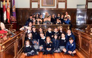 Escolares del Colegio Santa Ana visitan el  Palacio Provincial de Guadalajara