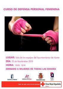 Huete celebra el Día Internacional de la Eliminación de la Violencia contra la Mujer con un partido de fútbol femenino y un taller de defensa personal