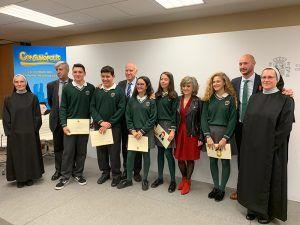 La Junta felicita a las alumnas y alumnos del colegio 'Santa María de la Expectación' de Cuenca, uno de los ganadores de la fase nacional del concurso 'Consumópolis'