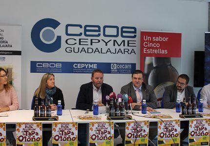 La Ruta de la Tapa en Otoño vuelve a Guadalajara los fines de semana del 22 al 24 y del 29 de noviembre al 1 de diciembre