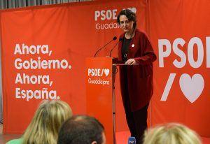 """Magdalena Valerio """"hay que votar al PSOE el domingo porque a la derecha se la para en las urnas"""""""