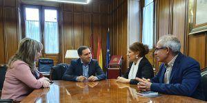Martínez Chana recibe a la consejera de Bienestar Social en la ronda que está manteniendo con todas las diputaciones