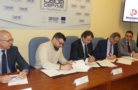 Acuerdo histórico para reintegrar a la Agrupación Provincial de Hostelería y Turismo en el seno de CEOE-Cepyme Cuenca
