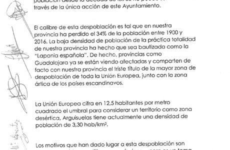 El Ayuntamiento de Arguisuelas convoca a todos los Alcaldes de la serranía conquense para crear un Pacto por Cuenca contra la Despoblación