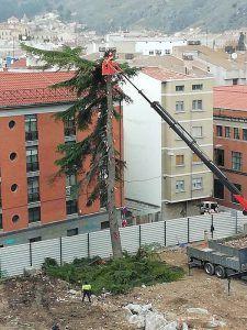 El Ayuntamiento de Cuenca estará vigilante para que se restituya el parque infantil y el arbolado del antiguo sanatorio de San Julián
