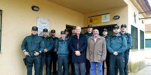 El subdelegado del Gobierno en Cuenca visita el cuartel de la Guardia Civil de Villalba de la Sierra