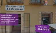 La Diputación de Guadalajara destina 200.000 € al mantenimiento de la estructura comercial y los servicios básicos del medio rural