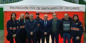 La Junta entrega una tienda de campaña a la agrupación de Protección Civil de Santa Maria de los Llanos
