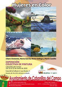 Del 10 al 25 de enero, exposición colectiva de mujeres pintoras en Cabanillas