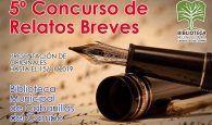 El sábado 25 de enero, Gala de Premios del V Concurso de Relatos Breves de la Biblioteca de Cabanillas