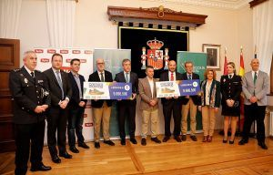 Fundación Eurocaja Rural, Grupo Tello Alimentación y CNP entregan a Cruz Roja y ASPRONA Albacete los 19.393 euros de su Carrera Solidaria
