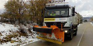 La Diputación de Cuenca mantiene siete camiones quitanieves y dos máquinas retroexcavadoras en las carreteras provinciales