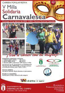 Abre la inscripción para la V Milla Solidaria Carnavalesca en Cabanillas, que se correrá el domingo 23 de febrero