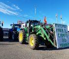 Decenas de tractores toman Molina de Aragón bajo el lema 'Agricultores al límite'