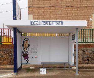 El Gobierno de Castilla-La Mancha renueva 950 marquesinas en distintos puntos de la región