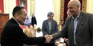 El subdelegado del Gobierno en Cuenca asiste a la recepción institucional al embajador de Taiwan