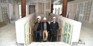 Imagen de archivo de la visita a las obras del segundo centro de salud de Azuqueca de Henares en febrero de 2019