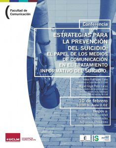 Profesionales del SESCAM explicarán cómo abordar las informaciones sobre suicidios en la Facultad de Comunicación