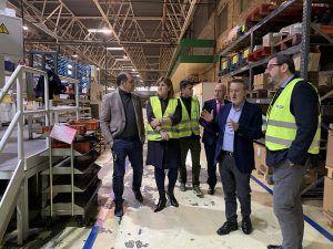 Robles destaca el compromiso de la empresa LCN Mecánica con el empleo y el desarrollo económico de Guadalajara