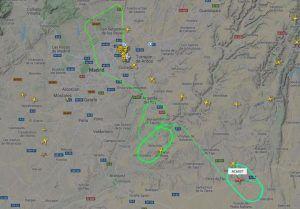 Un avión de Air Canada con problemas técnicos da vueltas en círculos sobre Tarancón esperando un aterrizaje de emergencia