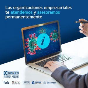 ¿Tienes dudas CEOE-Cepyme Guadalajara ofrece atención e información permanente a empresas, pymes y autónomos por la situación generada por el COVID-19