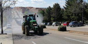 ASAJA colabora con el Ayuntamiento de Cuenca en la desinfección de las calles