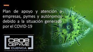 CEOE-Cepyme Cuenca resalta la solidaridad de muchas empresas conquenses durante la crisis del coronavirus
