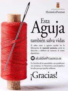 El Ayuntamiento de Cuenca coordina una iniciativa solidaria para fabricar batas impermeables para el hospital