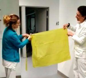 El Ayuntamiento de Huete promueve la confección de delantales y manguitos para el Hospital de Cuenca