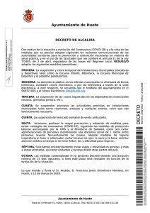 El Ayuntamiento de Huete suspende temporalmente las actividades que se realizan en instalaciones municipales