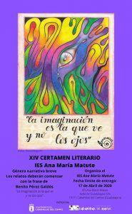 El instituto Ana María Matute convoca la 14ª edición de su Certamen Literario, que patrocina el Ayuntamiento de Cabanillas
