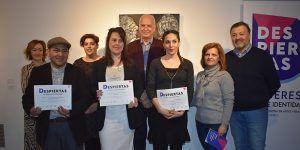 Irene Cano, Pablo Guillermo Tapia y Paula Segarra premios de la exposición 'Despiertas'. Mujeres, arte e identidad