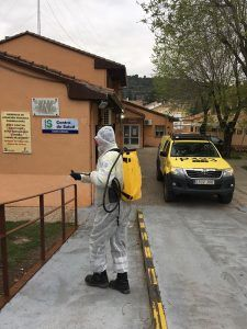 La Diputación de Guadalajara y la Junta coordinan acciones de desinfección en los pueblos de la provincia