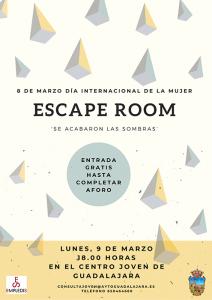 La juventud de Guadalajara podrá participar en un original 'Escape Room' en el Centro Joven con motivo del 8M